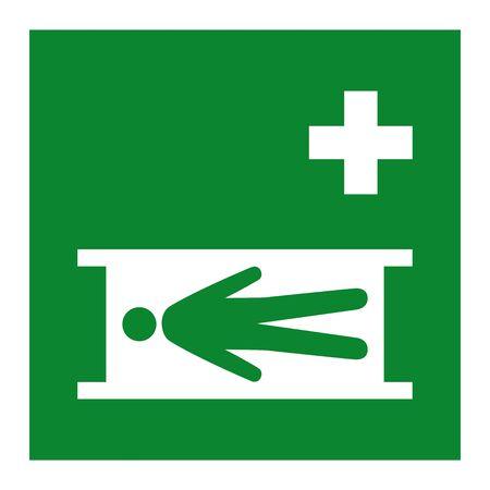 Emergency Stretcher Symbol Isolate On White Background,Vector Illustration EPS.10 Stock Illustratie