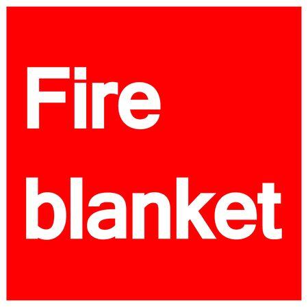 Fire Blanket Symbol Sign Isolate On White Background,Vector Illustration EPS.10 Illustration