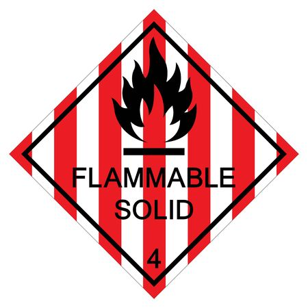 Flammable Solid Symbol Sign Isolate On White Background,Vector Illustration EPS.10