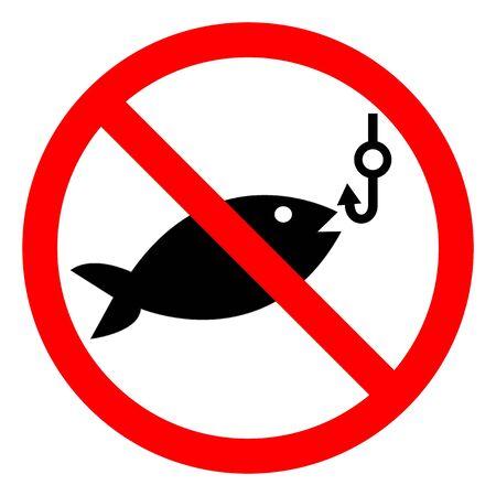 No Fishing Symbol Sign Isolate On White Background,Vector Illustration EPS.10 Vektoros illusztráció