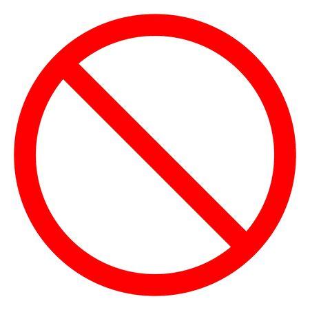 Kein Zeichen leer rot durchgestrichenen Kreis, nicht erlaubtes Zeichen auf weißem Hintergrund isolieren, Vektor-Illustration EPS.10