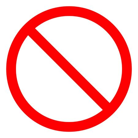 No Sign Empty Red Crossed Out Circle,Not Allowed Sign Isolate On White Background,Vector Illustration EPS.10