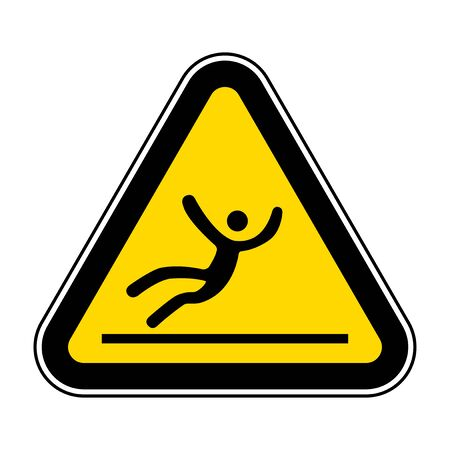 Beware Slippery Surface Symbol Isolate On White Background,Vector Illustration EPS.10