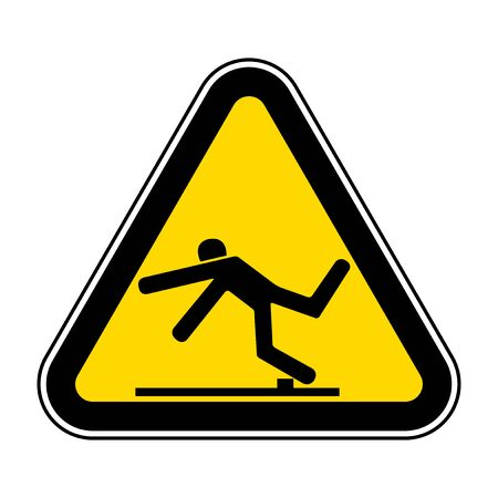 Beware Trip Hazard Symbol Isolate On White Background,Vector Illustration EPS.10 Illustration
