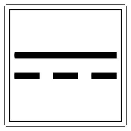 Direct Current DC Symbol Sign Isolate On White Background,Vector Illustration EPS.10 Vector Illustration