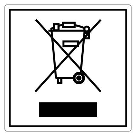 No Waste Symbol Sign Isolate On White Background,Vector Illustration EPS.10  イラスト・ベクター素材