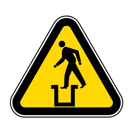 Beware Bottomless Pit Symbol Sign Isolate On White Background,Vector Illustration EPS.10
