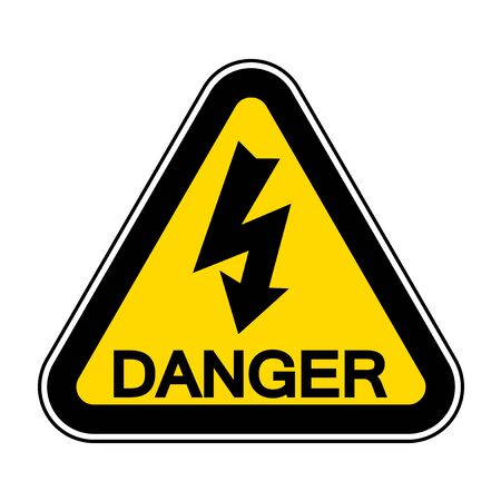 High Voltage Symbol Sign Isolate On White Background,Vector Illustration EPS.10