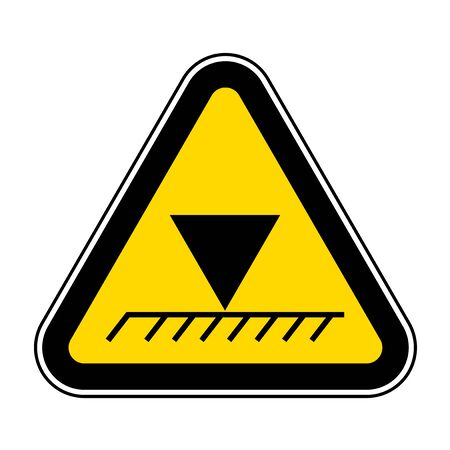 Limit Overhead Height Symbol Sign Isolate On White Background,Vector Illustration EPS.10