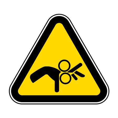 Beware Roller Symbol Sign Isolate On White Background,Vector Illustration EPS.10