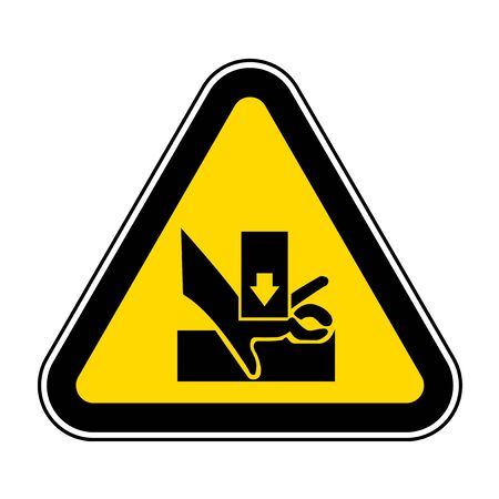 Beware You Hand When Using Silkscreen Symbol Sign Isolate On White Background,Vector Illustration EPS.10