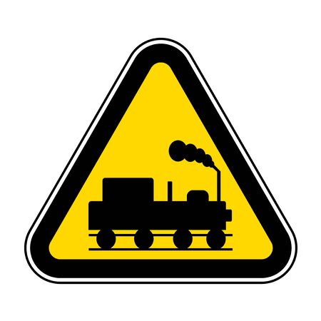 Danger Beware Of Trains Symbol Sign Isolate On White Background,Vector Illustration EPS.10