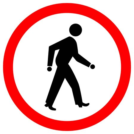 Pedestrian Crossing Road Sign Isolate On White Background,Vector Illustration EPS.10  イラスト・ベクター素材
