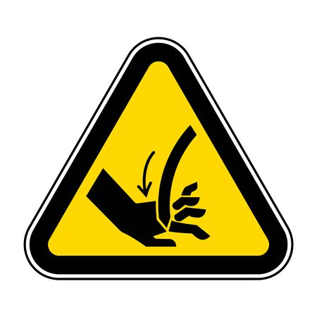 Cutting of Hand Curved Blade Symbol Sign  Isolate On White Background,Vector Illustration EPS.10  イラスト・ベクター素材