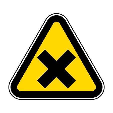 Beware Irritant Symbol Yellow Sign Isolate On White Background,Vector Illustration EPS.10  イラスト・ベクター素材