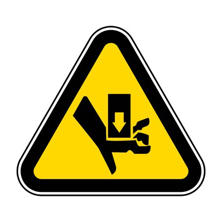 Warning Moving Part Crush and Cut Symbol Sign Isolate On White Background,Vector Illustration EPS.10