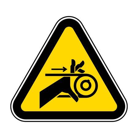 Hand Entanglement Belt Drive Symbol Sign  Isolate On White Background,Vector Illustration EPS.10