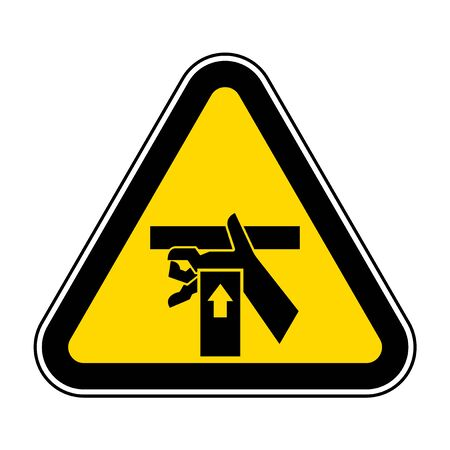 Hand Crush Force From Below Symbol Sign, Vector Illustration, Isolate On White Background Label .EPS10