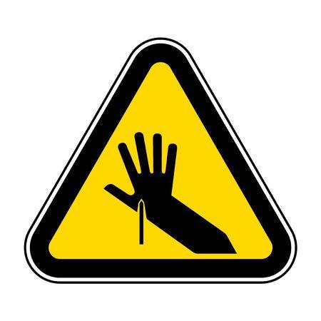 Sharp Point Symbol Sign, Vector Illustration, Isolate On White Background Label .EPS10