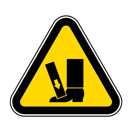 Foot Crush Force From Above Symbol Sign, Vector Illustration, Isolate On White Background Label .EPS10  イラスト・ベクター素材
