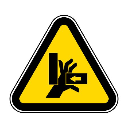 Hand Crush Force From Right Symbol Sign, Vector Illustration, Isolate On White Background Label .EPS10  イラスト・ベクター素材