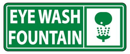 Eye Wash Fountain Sign Symbol Sign Isolate On White Background,Vector Illustration EPS.10  イラスト・ベクター素材
