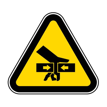Hand Crush Force From Two Sides Symbol Sign, Vector Illustration, Isolate On White Background Label .EPS10