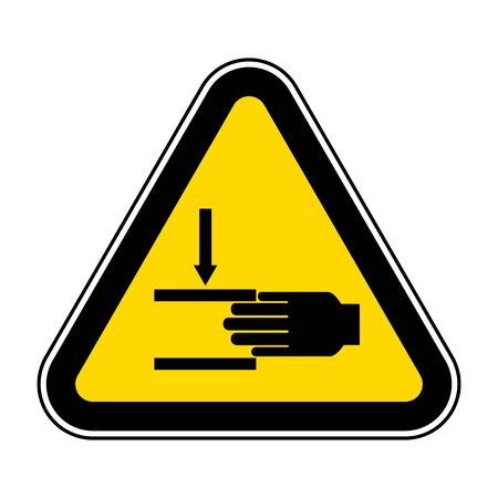 Hand Crush Force From Above Symbol Sign, Vector Illustration, Isolate On White Background Label .EPS10