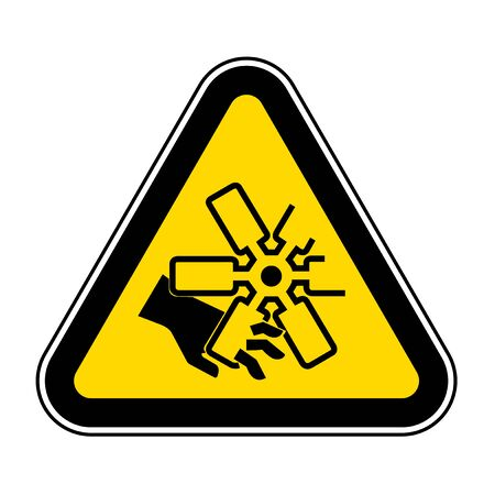 Cutting of Fingers Or Hand Engine Fan Symbol Sign, Vector Illustration, Isolate On White Background Label .EPS10
