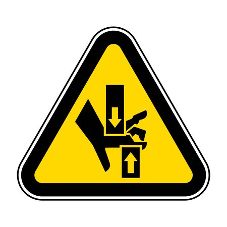 Crush Hand Top Bottom Symbol Sign, Vector Illustration, Isolate On White Background Label .EPS10  イラスト・ベクター素材