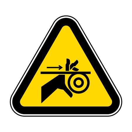 Hand Entanglement Belt and Rollers Symbol Sign, Vector Illustration, Isolate On White Background Label .EPS10