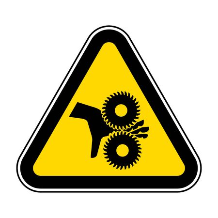 Cutting of Fingers Rotating Blades Symbol Sign, Vector Illustration, Isolate On White Background Label .EPS10  イラスト・ベクター素材