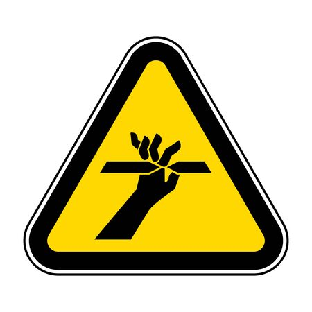 Cutting of Fingers Symbol Sign, Vector Illustration, Isolate On White Background Label .EPS10