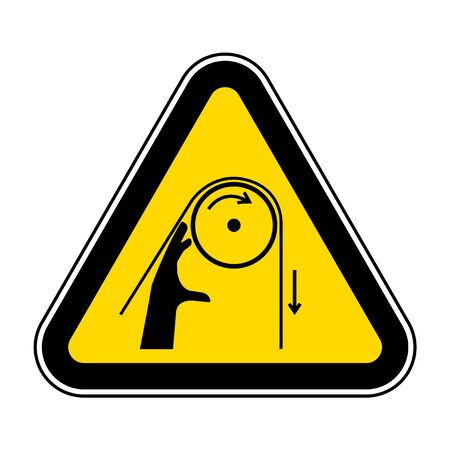Hand Entanglement Rollers Symbol Sign, Vector Illustration, Isolate On White Background Label .EPS10  イラスト・ベクター素材