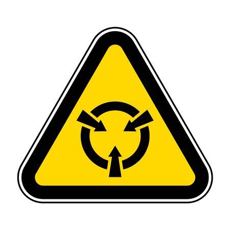 Electrostatic Sensitive Device (ESD) Symbol Sign Isolate On White Background,Vector Illustration EPS.10