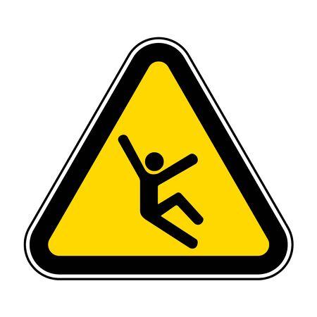 Climb Hazard Symbol Sign Isolate On White Background,Vector Illustration EPS.10 Stok Fotoğraf - 128693703