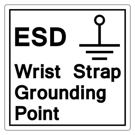 Grounding Point Symbol Sign Isolate On White Background,Vector Illustration EPS.10