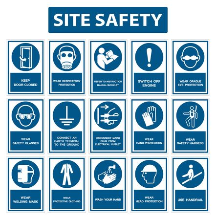 Safety PPE Must Be Worn Sign Isolate On White Background,Vector Illustration EPS.10