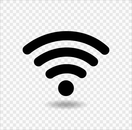 WiFi icon,Wireless Internet Isolate On transparent Background,Vector Illustration