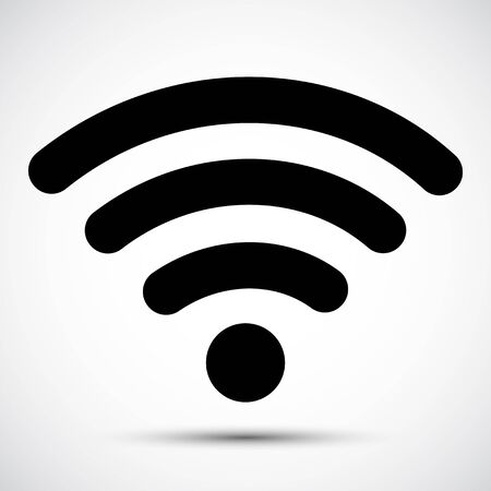 WiFi icon,Wireless Internet Isolate On white Background,Vector Illustration Ilustración de vector