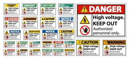 High Voltage Keep Out Sign Isolate On White Background,Vector Illustration EPS.10