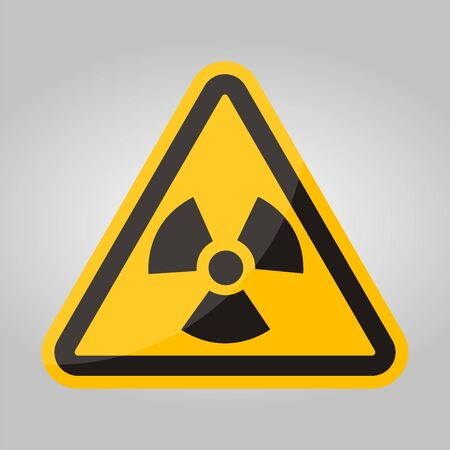 Radiation Hazard Symbol Sign Isolate On White Background,Vector Illustration EPS.10 向量圖像