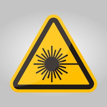 Beware Laser Beam Symbol Sign Isolate On White Background,Vector Illustration Иллюстрация