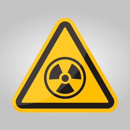 Radiation Hazard Symbol Sign Isolate On White Background,Vector Illustration EPS.10 Иллюстрация