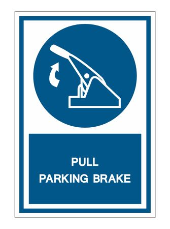 Pull Parking Brake Symbol Sign Isolate On White Background,Vector Illustration Illustration