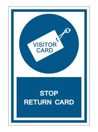 Stop Return Card Symbol Sign Isolate On White Background,Vector Illustration