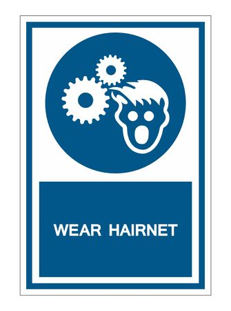 PPE Icon.Wear Hairnet Symbol Sign Isolate On White Background,Vector Illustration