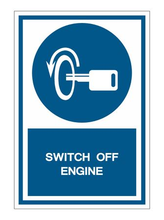 Switch Off Engine Symbol Sign Isolate On White Background,Vector Illustration Illustration