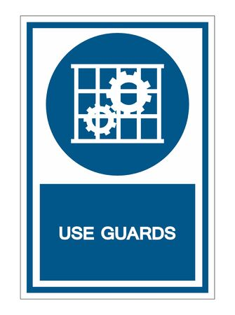 Use Guards Protection Symbol Sign Isolate on White Background,Vector Illustration