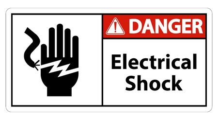 Electrical Shock Electrocution Symbol Sign Isolate On White Background,Vector Illustration EPS.10 写真素材 - 129945145